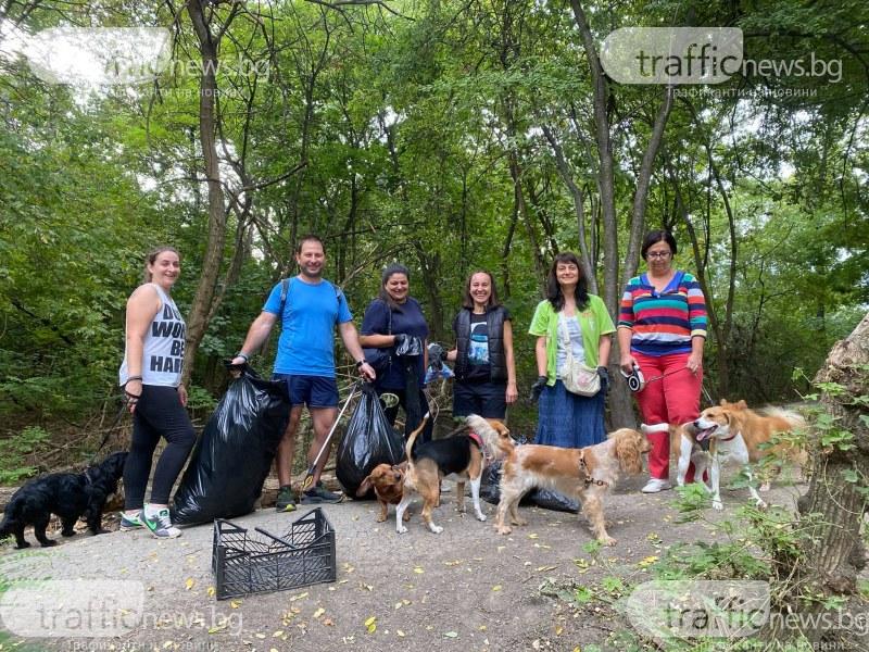 Седем доброволци и четириногите им приятели преобразиха Кучешката алея в парк Лаута