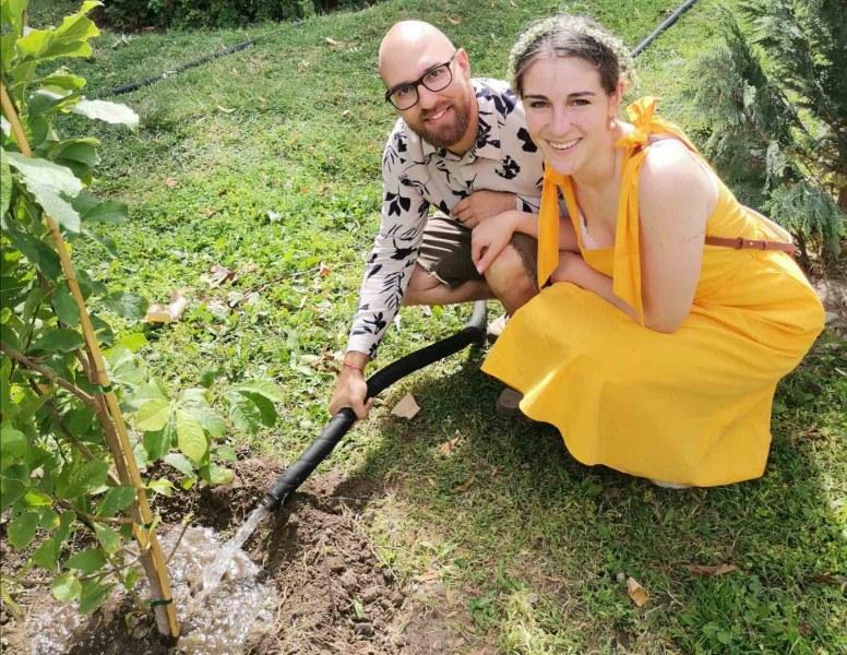 "Една инициатива на младоженци разкраси район ""Южен"