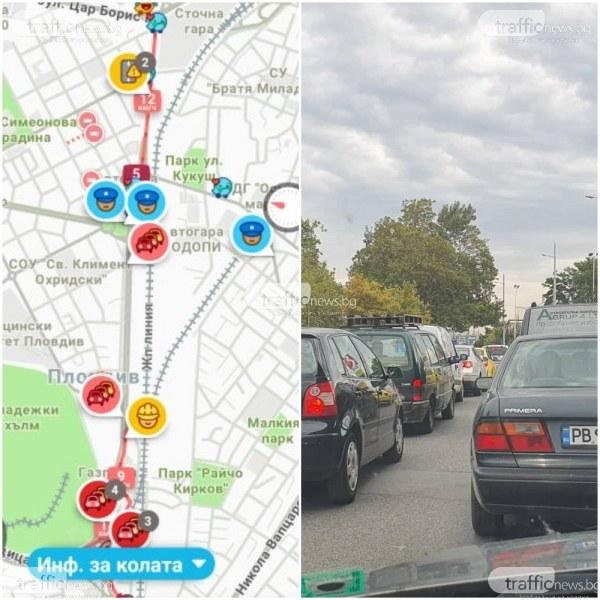 Кошмарният трафик по булевард