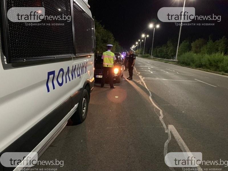 Зрелищна гонка: Патрулки преследваха предполагаеми превозвачи на мигранти
