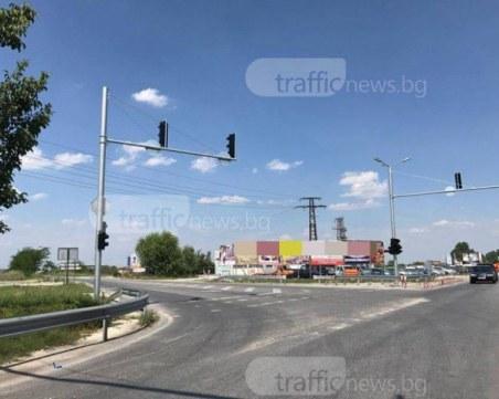 """Токов удар вероятно """"побъркал"""" светофара на Околовръстното край Марково, оправиха интервалите"""
