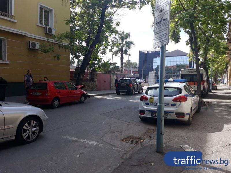 Катастрофа в центъра на Пловдив, има пострадал пътник
