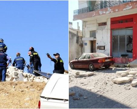 Загинал е мъж след труса в Крит, щетите са мащабни