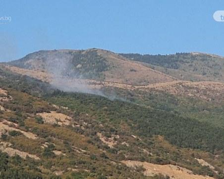 Пожарът над Карлово е причинен от човешка небрежност