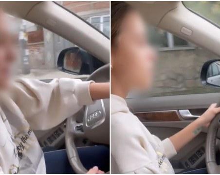 Нов скандален клип с дете зад волана: 12-годишна подкара колата на кака си