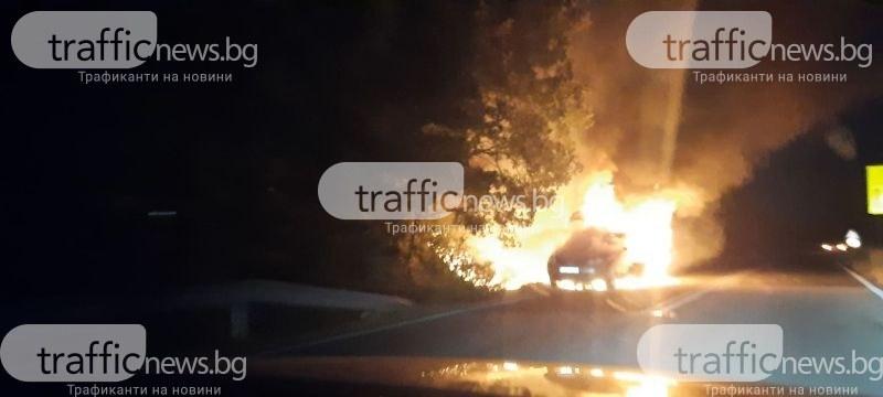 Запалиха колата на възрастен мъж в Раковски