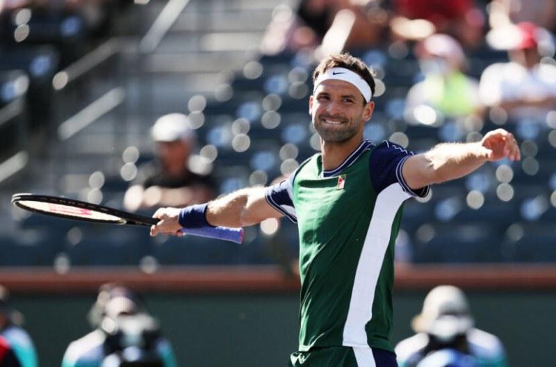 Страхотен Григор Димитров се класира за 1/4 финала в Индиън Уелс след фамозен обрат над шампиона от US Open