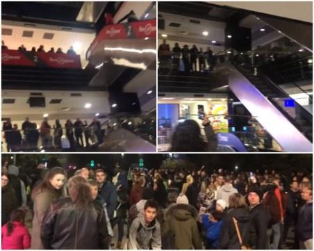 Протестиращи нахлуха в мол в Габрово