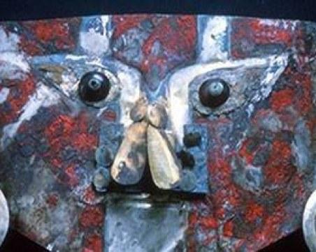 Откриха кръв в червената боя върху 1000-годишна златна маска от Перу